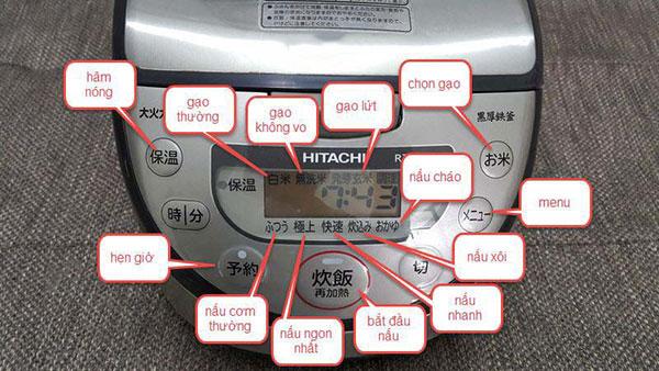 Hướng dẫn cách sử dụng nồi cơm điện Hitachi